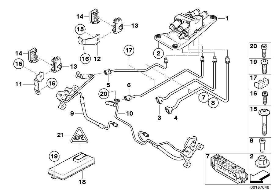 BMW 525i Socket housing. 54 POL. Control, Electrical