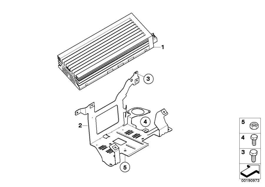 BMW 325i Socket housing. Amplifier, Bracket, ALPINA