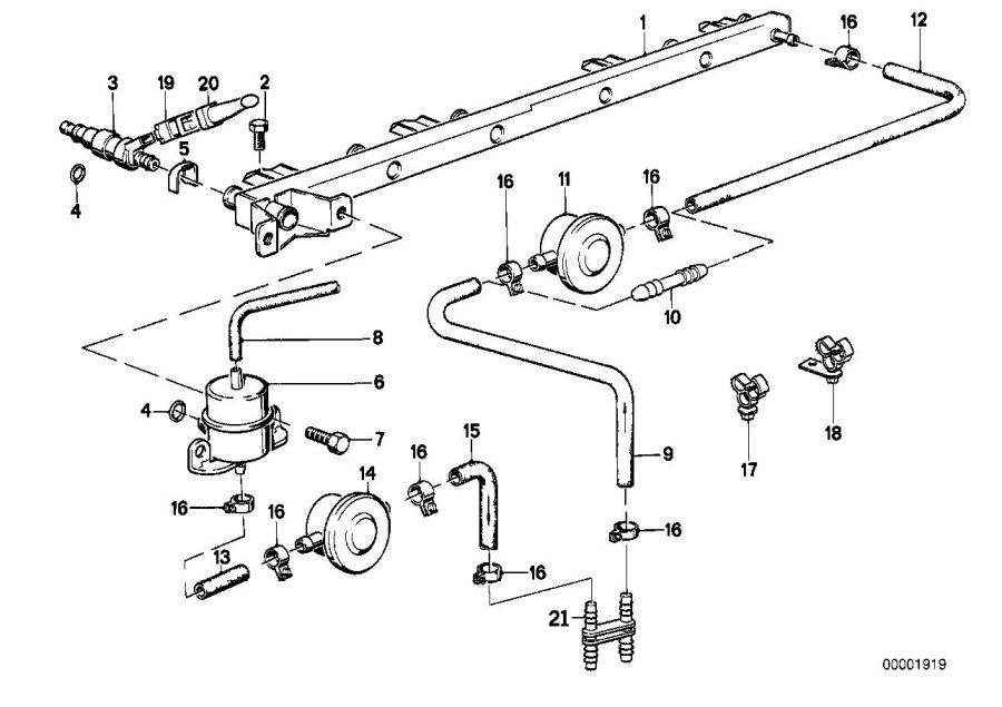BMW 325ix Fuel hose. 32MM-210MM. System, SUPPLY, FILTER