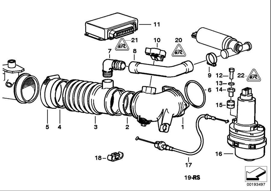BMW 540i Control unit ads 2. Asc+t. Fuel, system