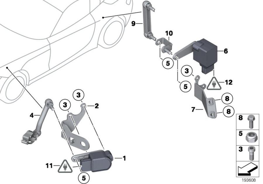 BMW Z4 Regulating rod. 71, 5mm. Alpina, sensor, air