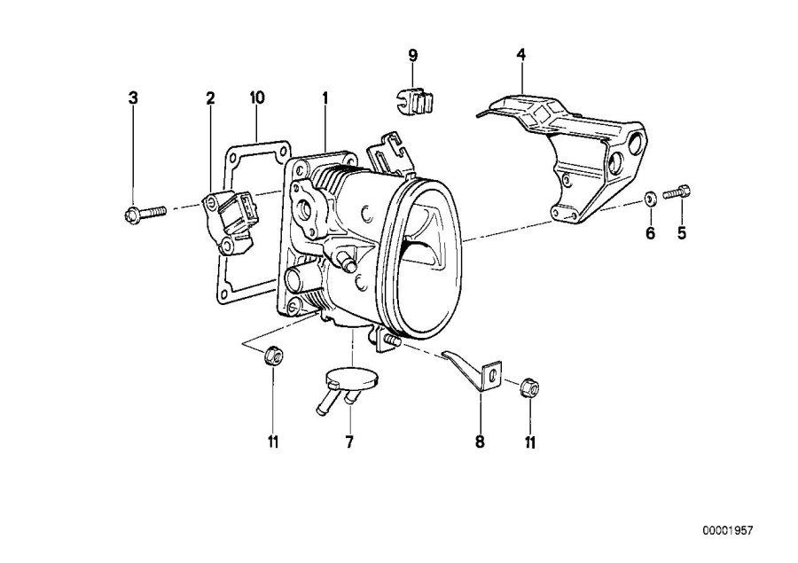 BMW 318is Fillister head screw. M4X2, 5. Throttle, System