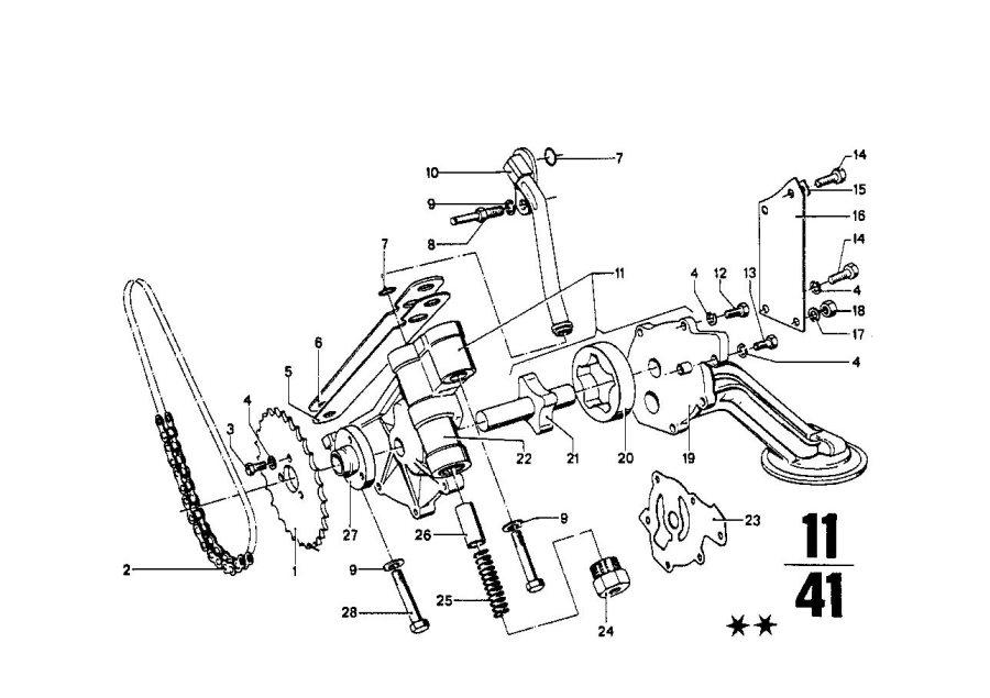 BMW 2002 Oil pump cover. Zyl, system, lubrication