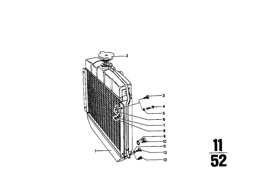 BMW 1602 Radiator. Cooling, Radiators, Maintenance, Engine