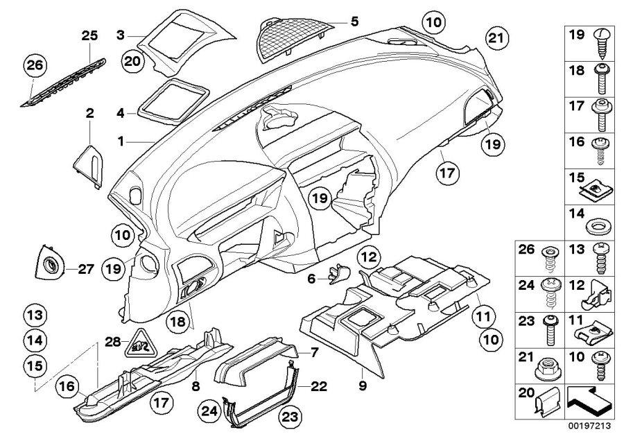 BMW 645Ci Trim panel dashboard. CHATEAU. Mounting