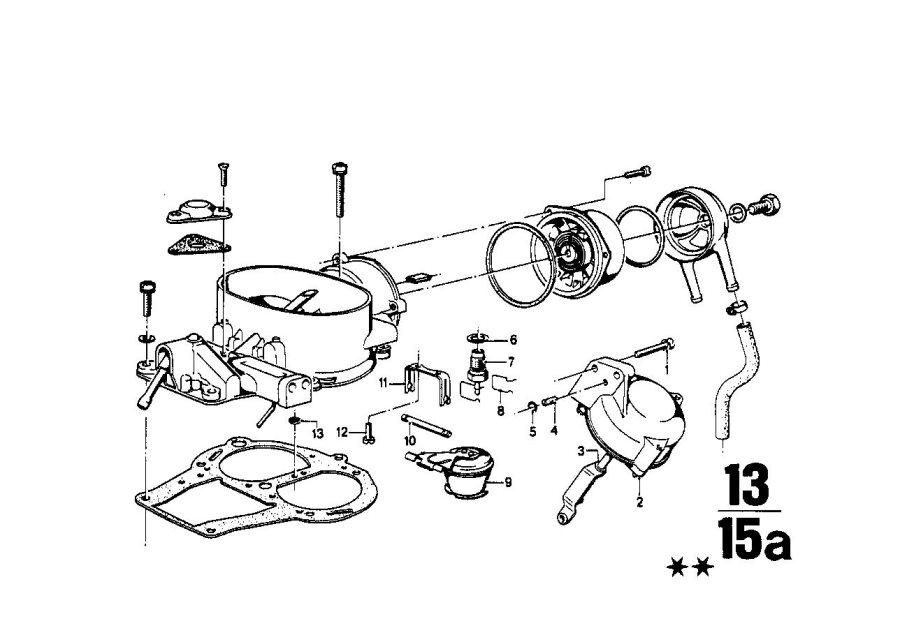 BMW 2002 Vacumm box. Carburetor, Fuel, System