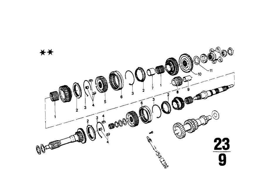 BMW 1602 Spacer. 33, 1X42X2, 40. Transmission, Zyl, WHEEL