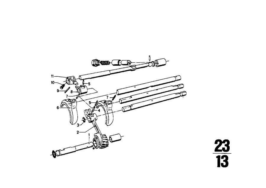 BMW 2002tii Shifting fork. Zyl, transmission, getrag