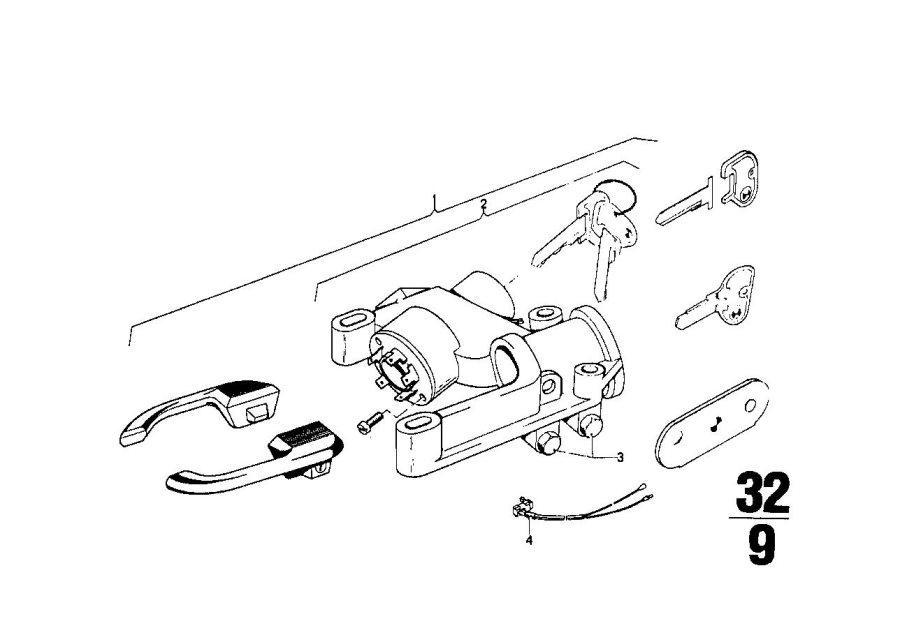 BMW 2002tii Steering lock. Suspension, Column