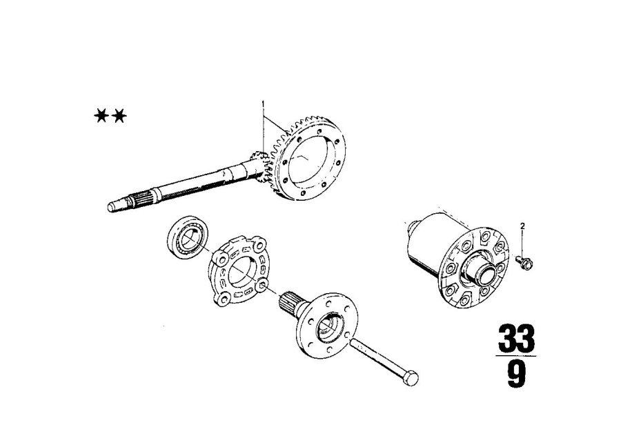 BMW 2002 Securing bolt. M10x22 12.9. Suspension, axle