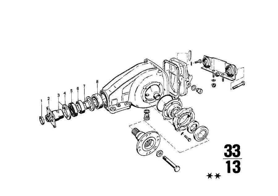 BMW 2002tii Shaft seal. 45X65X10. DRIVE, SUSPENSION, Rear