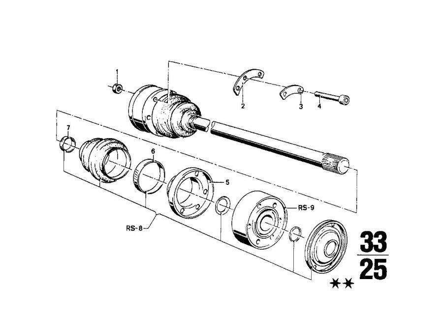 BMW 2002 Fillister head screw. M8X55 12.9. Shaft, Output