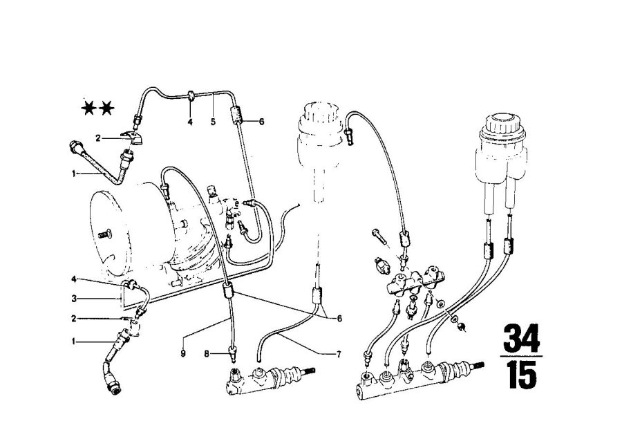 BMW 2002 Pipe. M10/M10-560MM. Brake, Front, Zyl