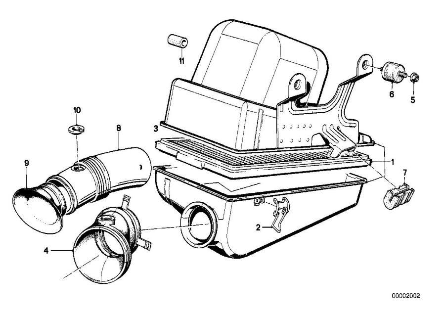 BMW 318i Intake silencer. Fuel, Filter, Cartridge