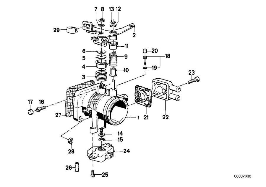 BMW 325ix Throttle Housing Assy. CODE AL. SYSTEM, Fuel