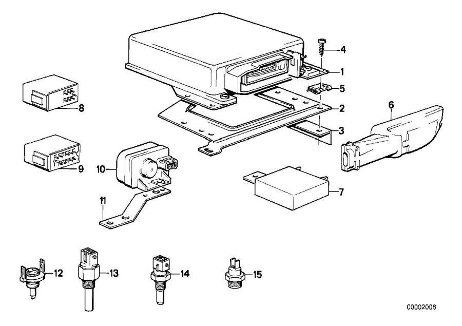 BMW 318i Control unit idling control. 12-pol. System, fuel