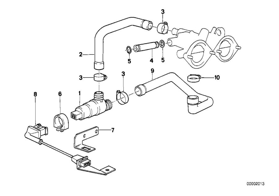 BMW M5 3.6 Adapter lead. System, Fuel, Engine