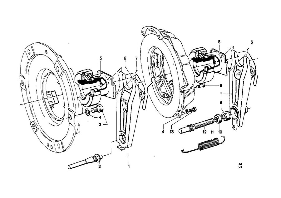 BMW 1602 Clutch release bearing. 38x67 h=42, 5. Bavaria