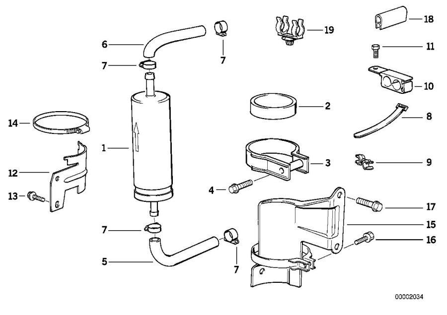 BMW 325i Bracket fuel strainer. D=80mm. Supply