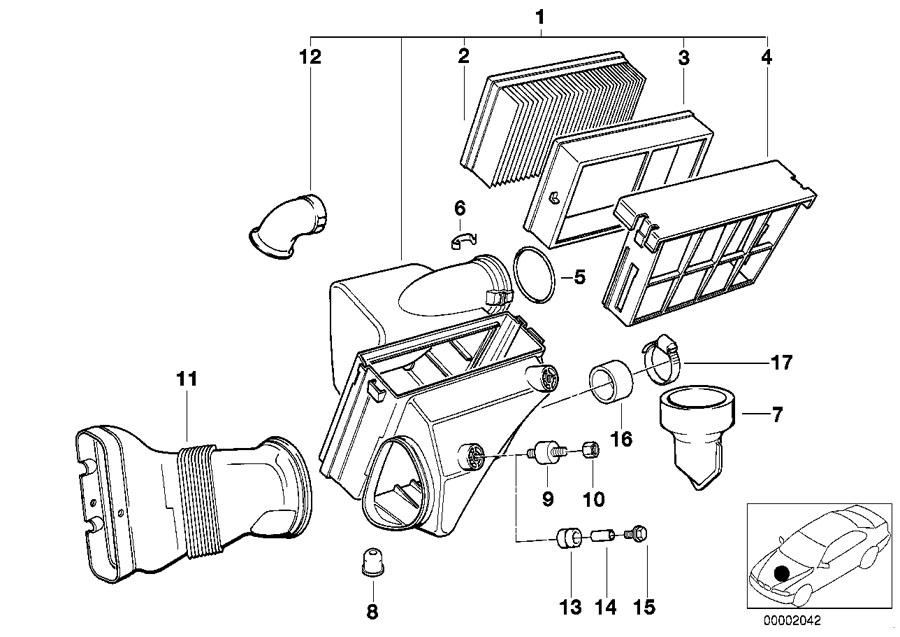 BMW 325is Intake silencer. Fuel, Filter, Cartridge