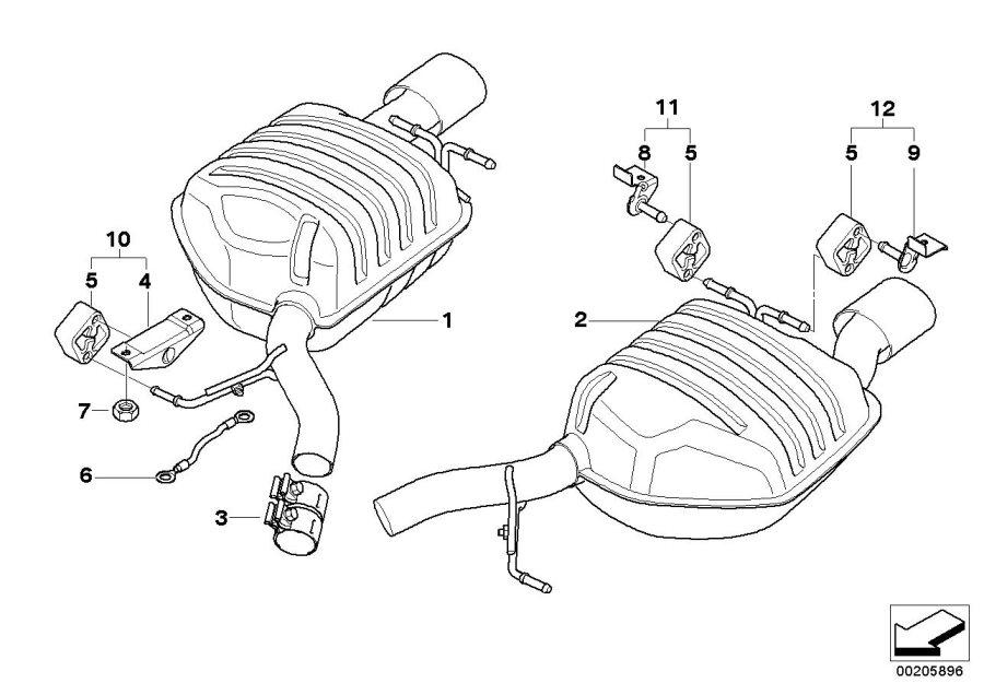BMW 645Ci Earth strap, end silencer. ALPINA, System