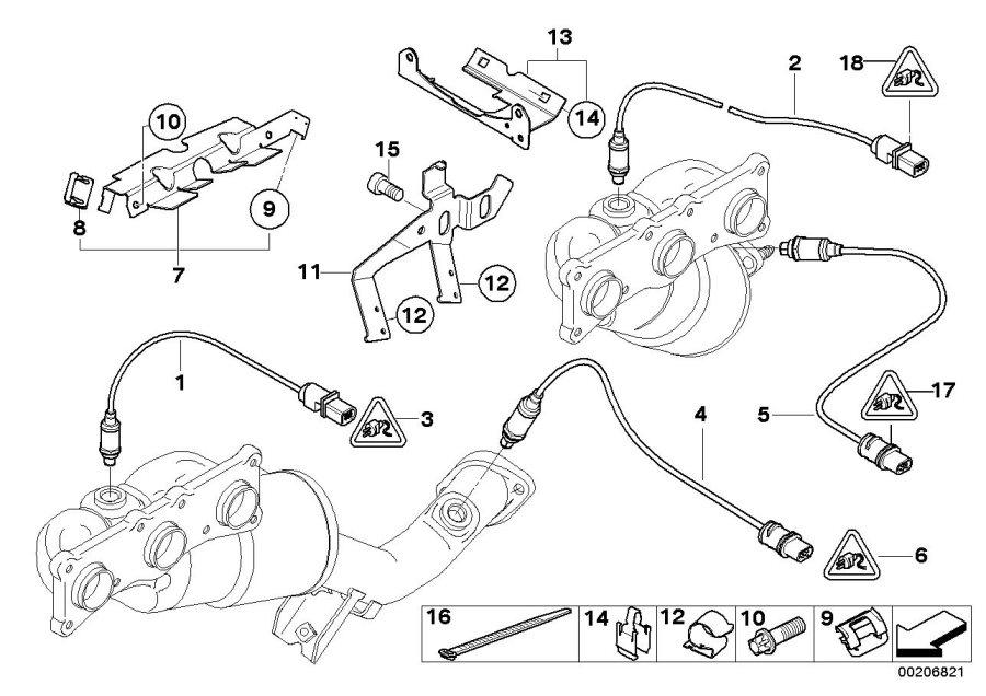 BMW M Coupe Regulating lambda probe. L= 1400mm. Sensors