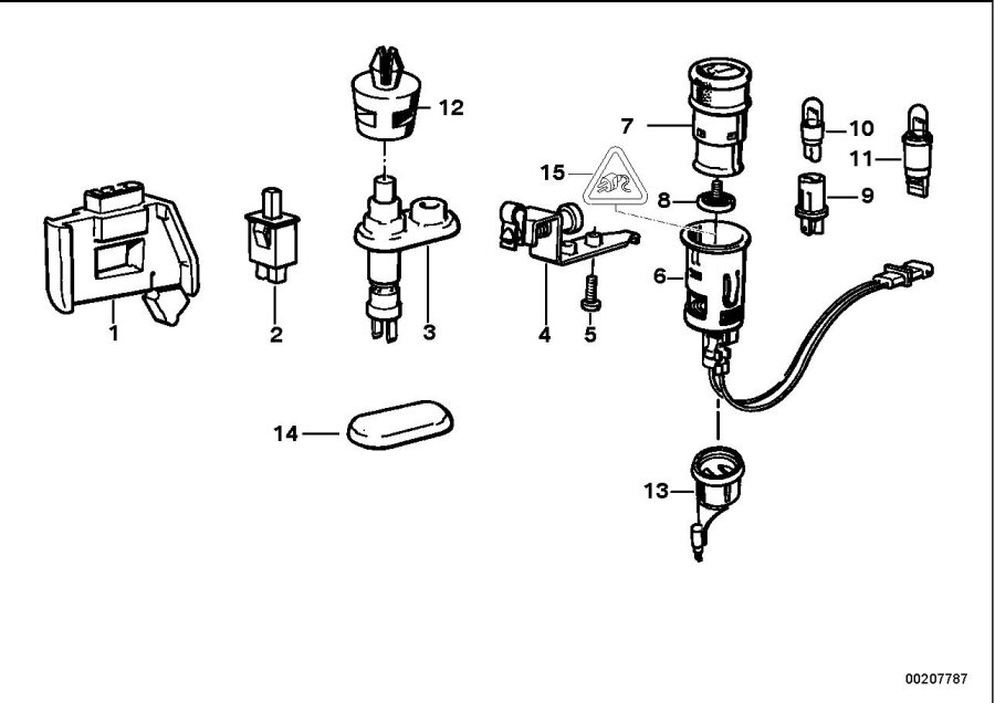 BMW M5 3.6 Bulb socket with bulb. 1, 2w. Various, lamps