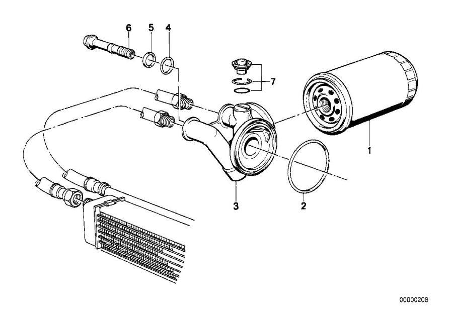 BMW 325ix Hollow bolt. Purolator. Lubrication, system