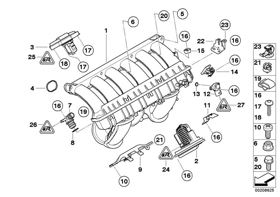 BMW 325xi Vent hose. Manifold, Intake, Engine