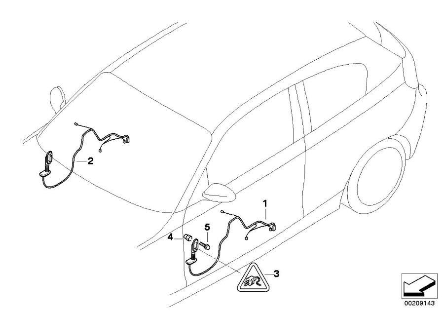 BMW 128i Pin-contact ELO-Power 2, 8 x 0, 63. 0, 5-1, 0MM²
