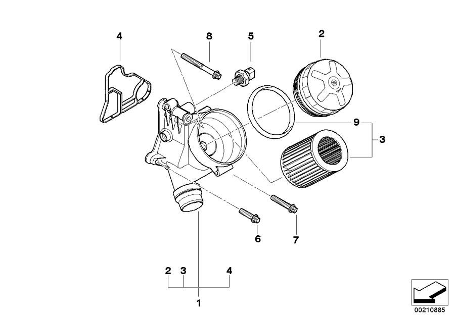 BMW 330xi Asa-bolt. M8x28. Oil, filter, lubrication