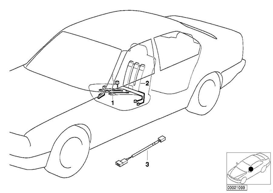 BMW 540i Heating element backrest. 120 W. Seat, Interior