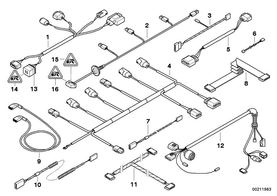 2005 BMW 650i Repair cable CAS. Key, Locking, Body