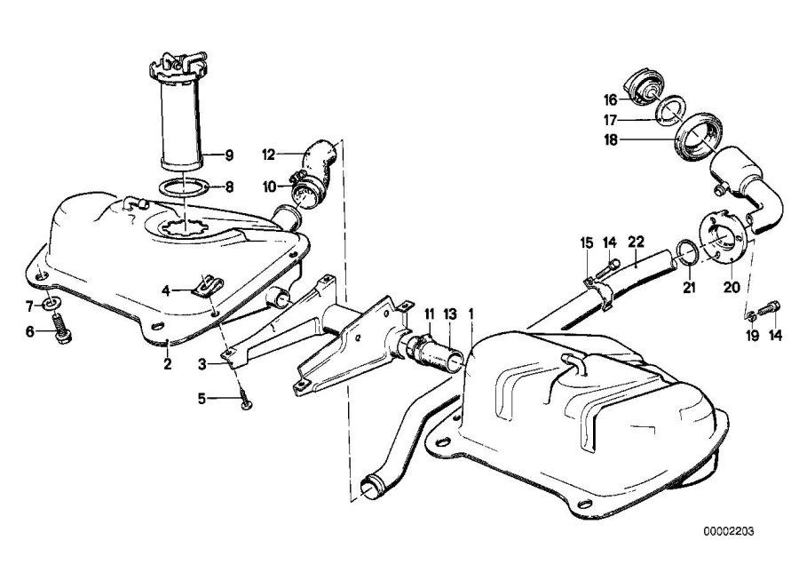 BMW 320i Sending unit assy metal tank. Fuel, system