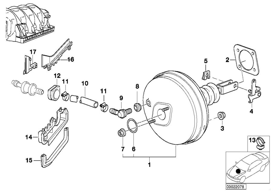 BMW 750iL Brake master cylinder o-ring. Alpina, brakes