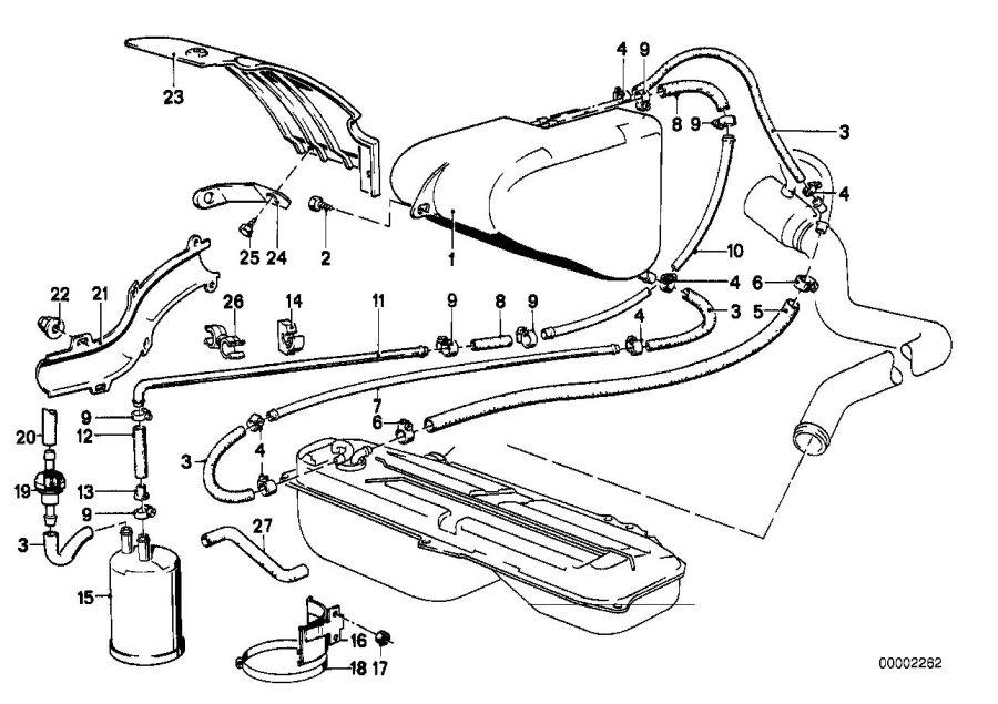 BMW 318is Fuel hose. 32MM-210MM. System, SUPPLY, FILTER