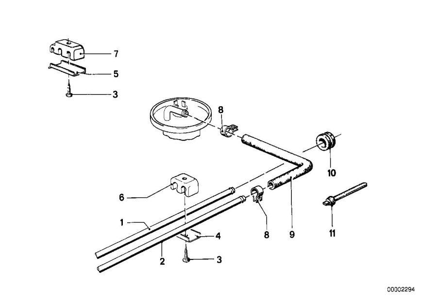 BMW 633CSi Screw, self tapping. Pipe, Brake, Fuel