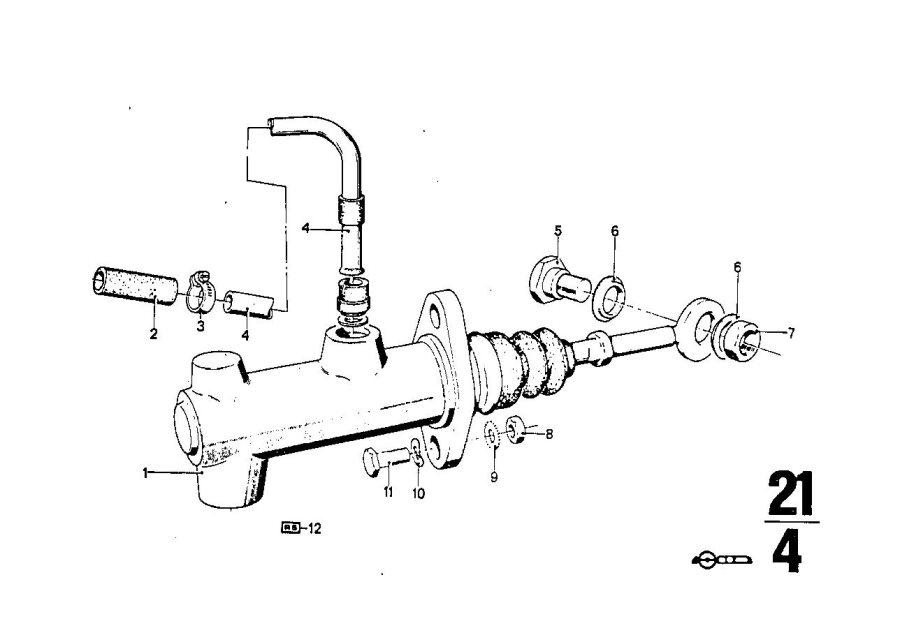 BMW 3.0S Input cylinder clutch. D=19, 05MM. Bavaria