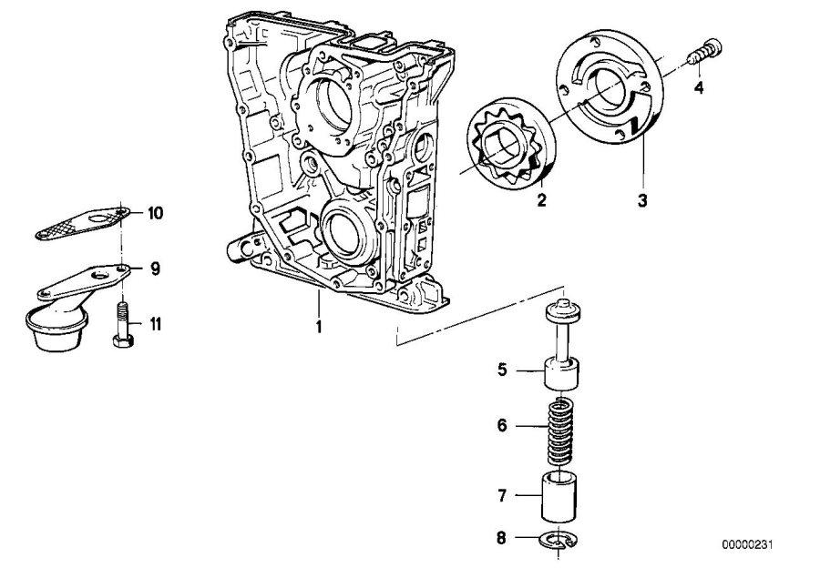 BMW 318i Gasket Asbestos Free. Lubrication, SYSTEM