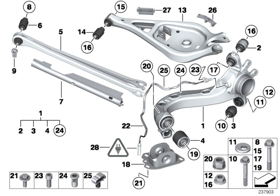 BMW Z4 Rubber Mounting. Suspension, Axle, Rear