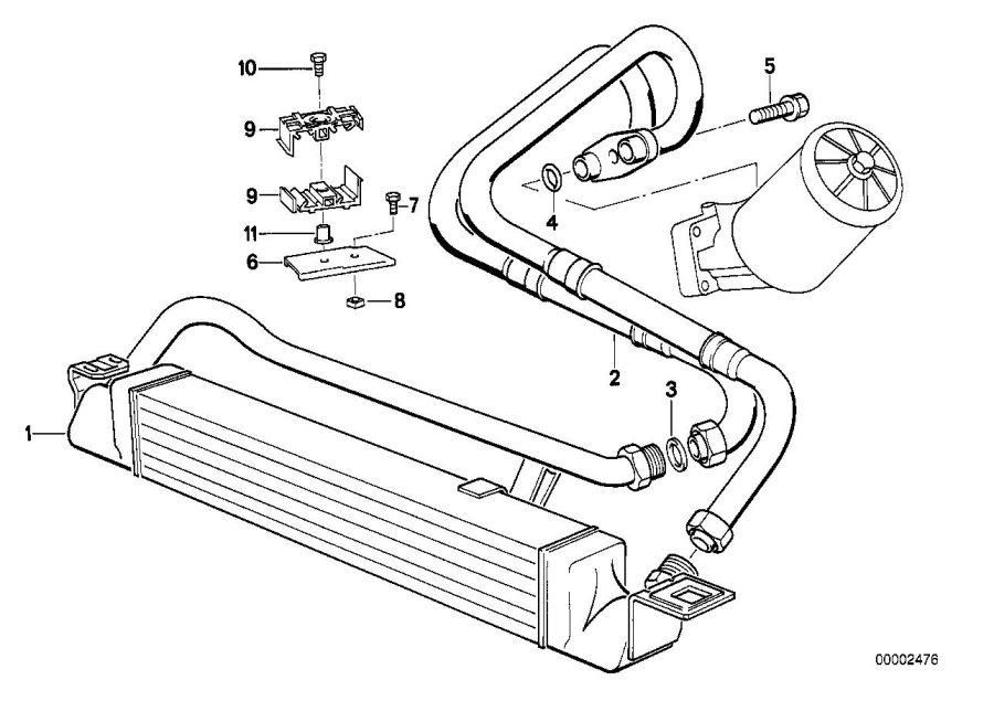 BMW M5 3.6 Oil cooler. Cooling, Radiator, Engine