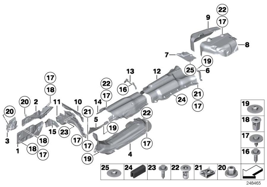 BMW 535i Sound insulation, rear right bumper. Trim, Body