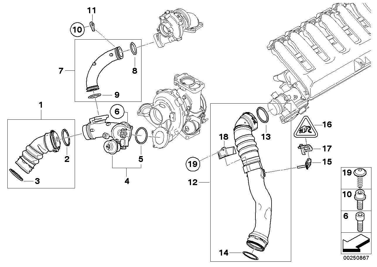Bmw X5 O Ring D40 64x5 33 Manifold Engine Intake