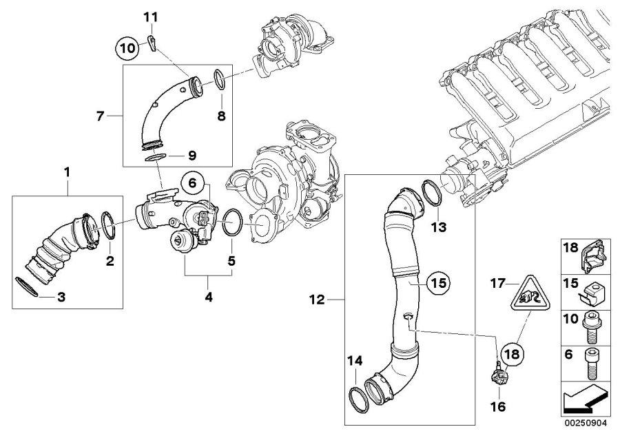 BMW X5 O-ring. D40, 64X5, 33. MANIFOLD, Engine, Intake
