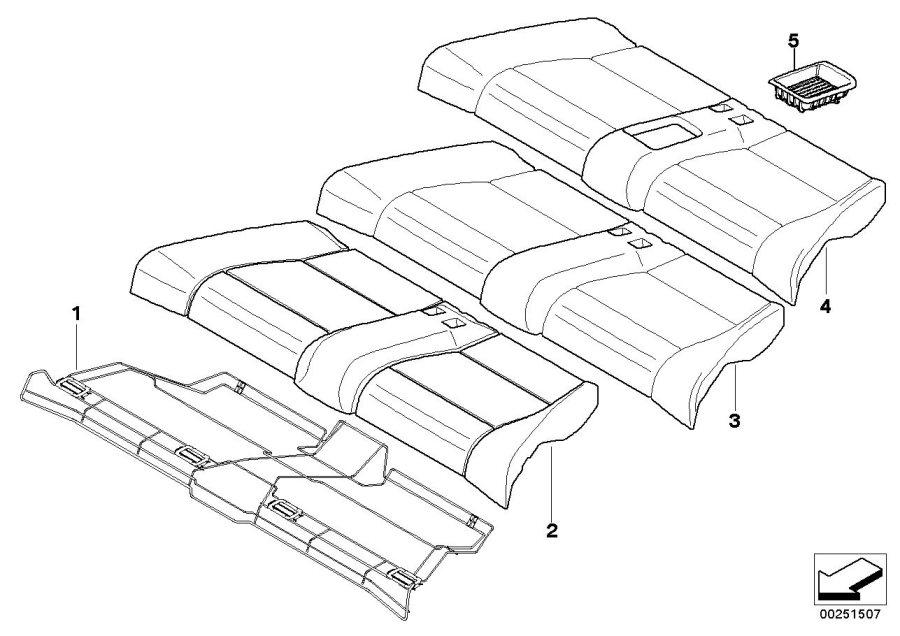 BMW 128i Seat cover, leather. SAVANNABEIGE. Rear, Trim