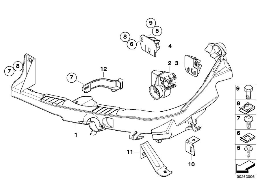 Bmw 335d Bracket For Headlight Arm Left
