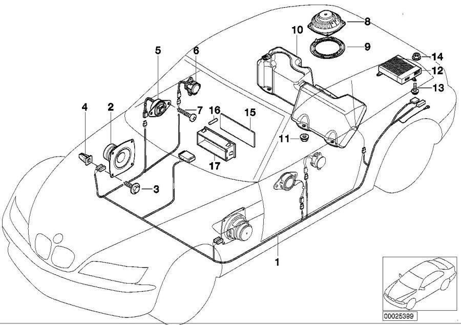 BMW Z3 Top-hifi system amplifier. Harman kardon
