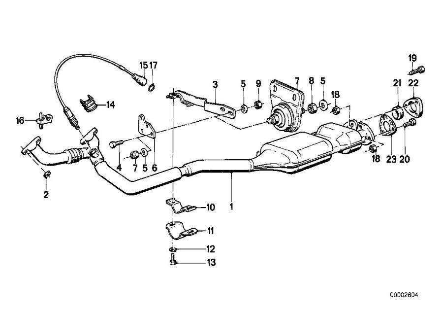 2009 BMW Oxygen sensor. Exhaust, system, converter