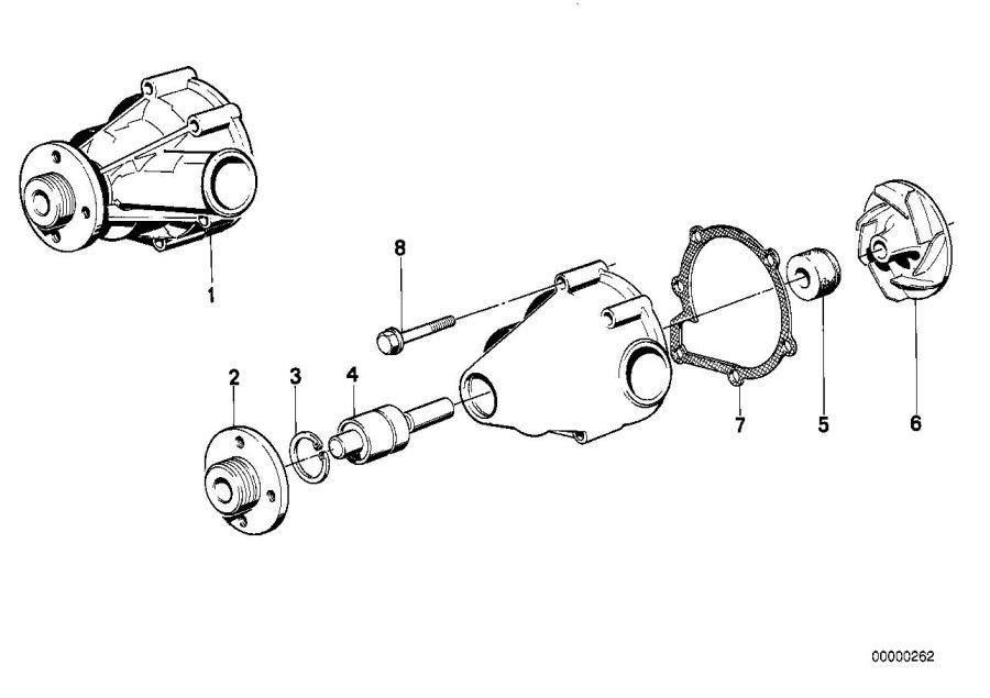 BMW 535i Exchange water pump. Engine, Cooling, System