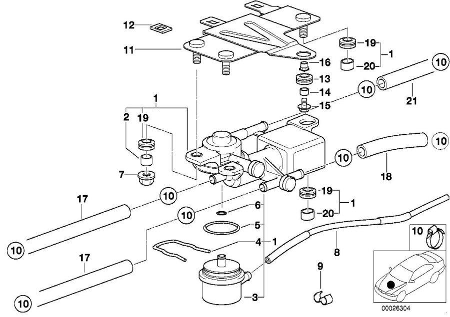 BMW 328i Pressure regulator. 3, 5bar/pierburg